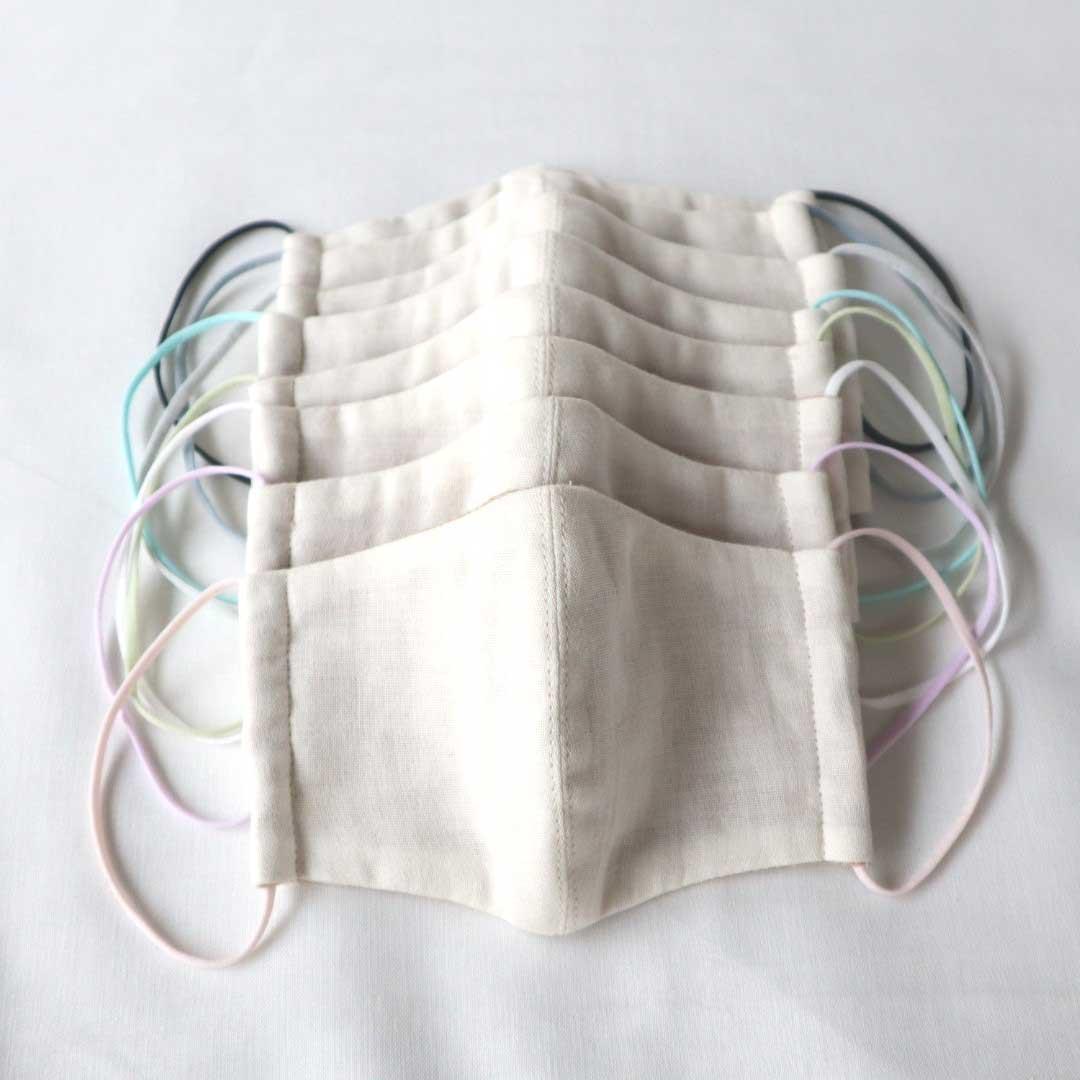 キッズ用布マスク [オーガニックコットン/カラーゴム]