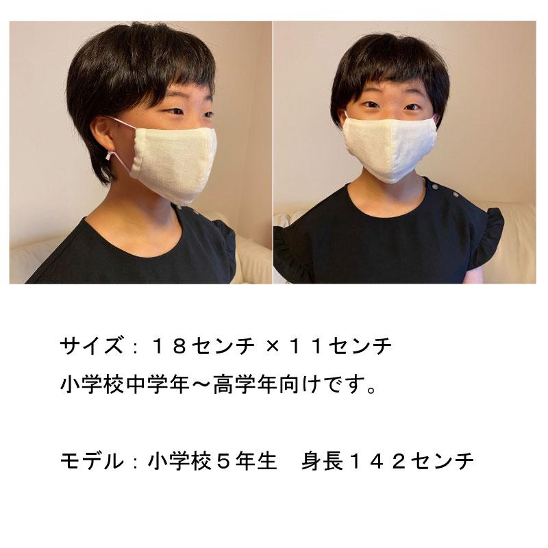キッズ用布マスク [Lサイズ/オーガニックコットン/カラーゴム]