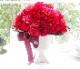 201203 ラメ、クリスタルピック入り赤,濃いピンクバラ50本アレンジ (中サイズバラミックス)オーダーメイドプリザーブドフラワー
