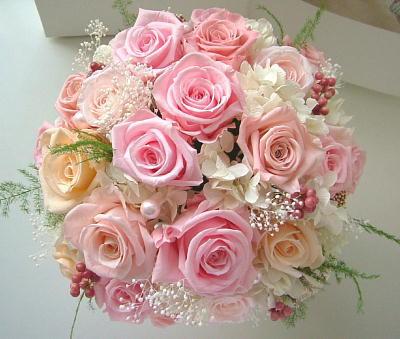 070508 ピンクバラいっぱいのポットアレンジ オーダーメイドプリザーブドフラワー