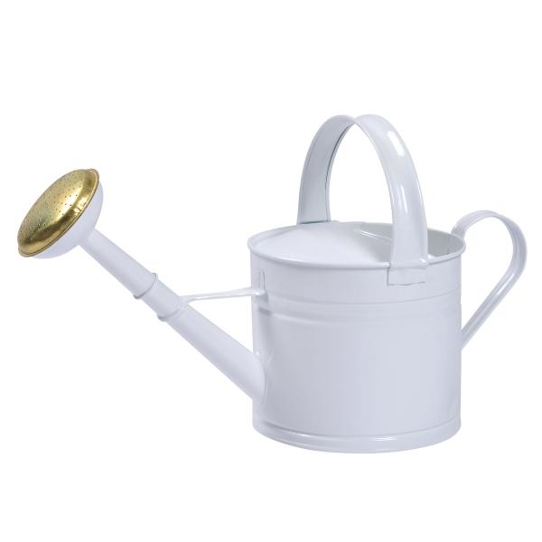 ブリキウォータリングカン4L  ホワイト(ロット:2)