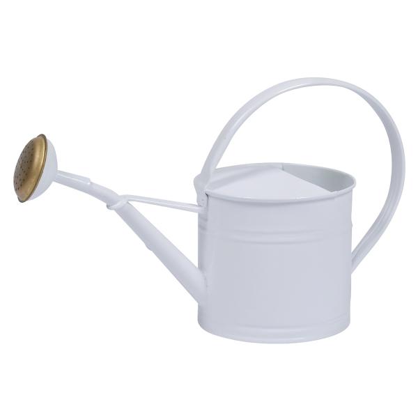 ブリキウォータリングカン1.5L ホワイト(ロット:2)