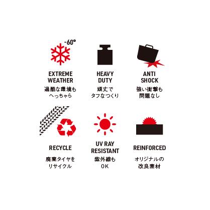 【予約商品】Kanguro リサイクルラバーバケツ11L(ロット:4)