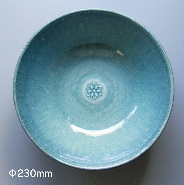 信楽焼菓子鉢・淡青色【大】