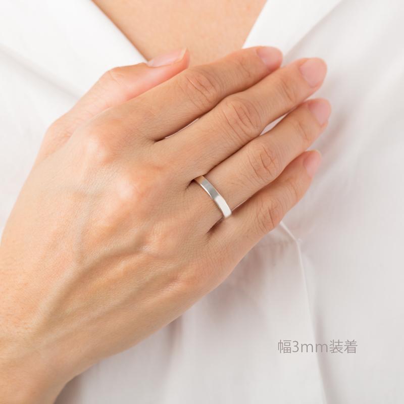 【ジュエリー ハナジュツ】 HANAJYUTSU チタン  純チタン マリッジリング 結婚指輪 幅3mm デザインA 単品