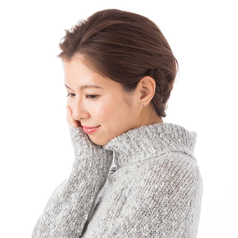 【ハナジュツDR】 Hanajyutsu DR セカンドピアス 医療用チタン 軸太 約1.3mm 16G 丸形 4mm クリスタル
