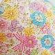 ★涼感★子供サイズ【M】かっちり立体マスク・布マスク/お花とリボン柄ピンク【ネコポス送料330円対象商品】