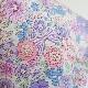 ★涼感★子供サイズ【M】かっちり立体マスク・布マスク/お花とリボン柄ラベンダー【ネコポス送料330円対象商品】