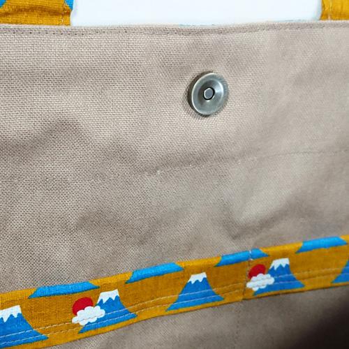【送料無料】2way和柄トートバッグ/あずま袋風三角バッグ【富士山柄01】 外国の方へプレゼントにも