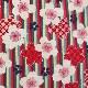 【送料無料】2way和柄トートバッグ/あずま袋風三角バッグ【桜0 緑・赤系】 外国の方へプレゼントにも