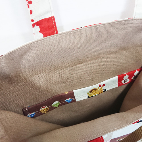 【送料無料】2way和柄トートバッグ/サブバッグ【和食と和柄01】 外国の方へプレゼントにも Msize