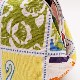 マチ広がま口財布/ポーチ【動物・お花などのモザイク柄】日本製/小銭入れ・化粧ポーチ・小物入れ