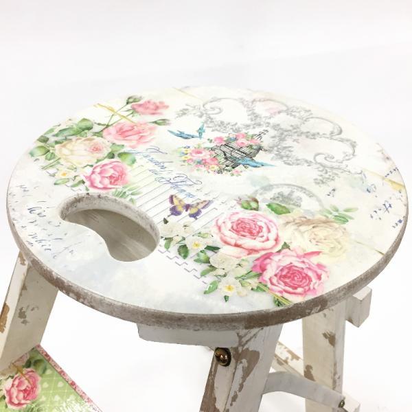 リニューアルオープン記念!ヴィクトリアンスツール(ホワイト) T SHZM-1724 花台・テーブル・ステップ
