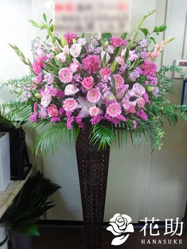 【ピンクバラ入り】お祝いスタンド花1段 22000円