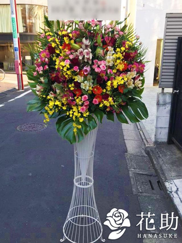 【モンステラ入り】お祝いスタンド花1段 21000円