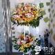 【モンステラ入り】お祝いスタンド花2段 22000円