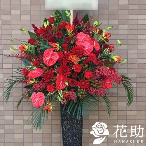【赤バラ入り】お祝いスタンド花1段 27000円