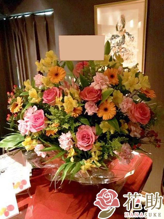 【ピンクバラ入り】お祝いアレンジメント花 10000円