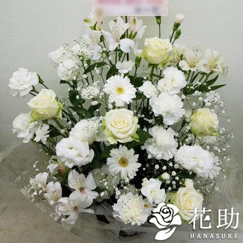 【白バラ入り】お祝いアレンジメント花 10000円