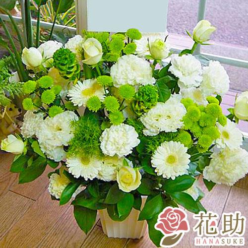 【白バラ入り】お祝いアレンジメント花 8000円