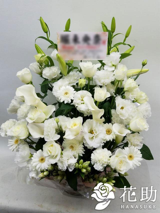 【白バラ入り】お祝いアレンジメント花 12000円