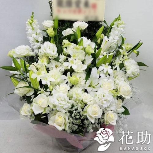 【白バラ入り】お祝いアレンジメント花 20000円