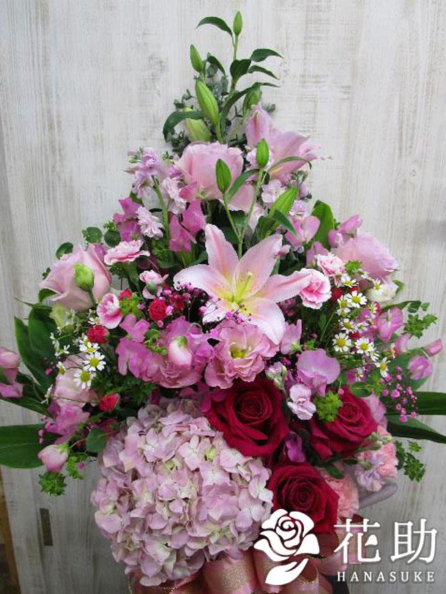 【赤バラ入り】お祝いアレンジメント花 11000円