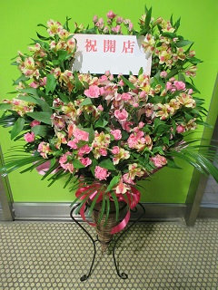 【おしゃれなスタンド台プレゼント!】ミディアムフラワースタンド花21000円