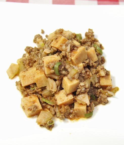 高野豆腐の馬麻婆