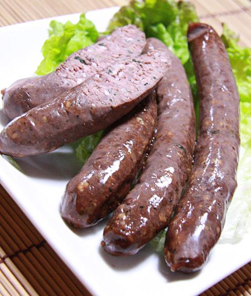 薬膳ソーセージ【鹿肉+小松菜+小エビ+黒ごま】