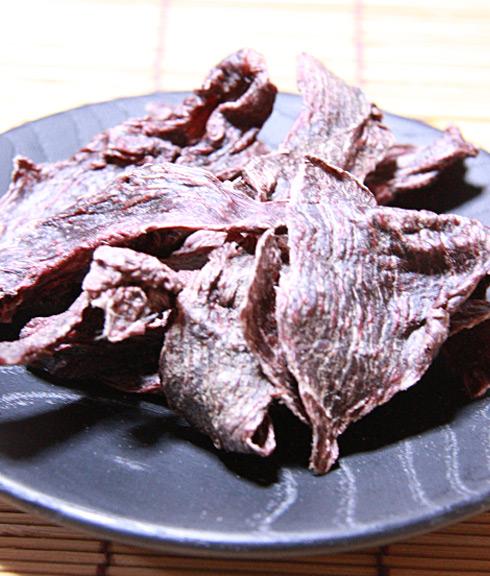 酵素ドライ製法☆43℃以下低温熟成【鹿もも肉ジャーキー】