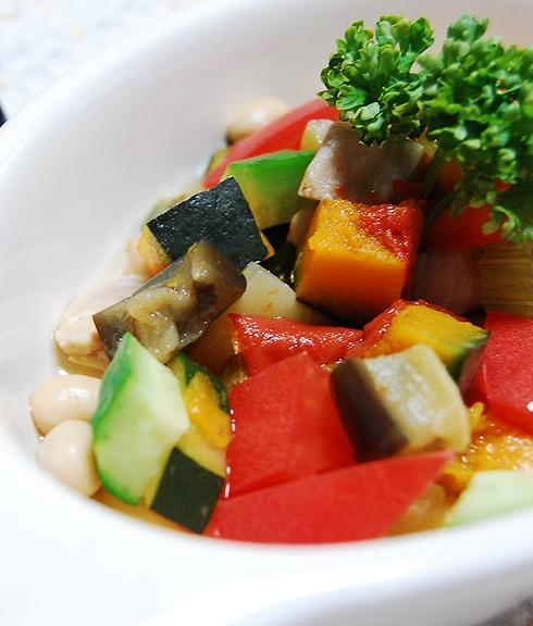 鶏むね肉と彩り野菜のカポナータ