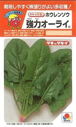 ホウレンソウの種/強力オーライ ネーキッド種子