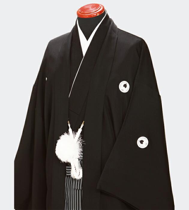 レンタル 紋付袴 高級黒紋付袴 紋付き袴 黒 【普通サイズ】 紋付レンタル 袴レンタル 紋服