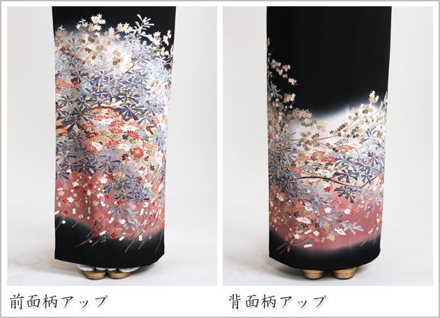 黒留袖 レンタル [標準サイズ:150cm〜165cm] 留袖 レンタル 着物 留め袖 NT-854