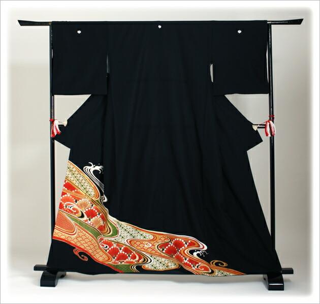 黒留袖 レンタル [広幅:13〜17号]留袖 レンタル 着物 留め袖 NT-L710