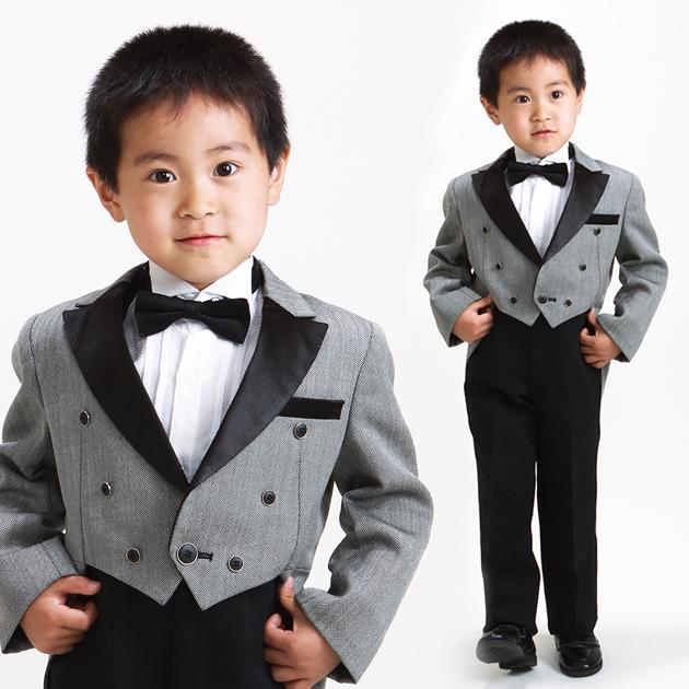 子供 タキシード レンタル 5〜7才 グレー色 212