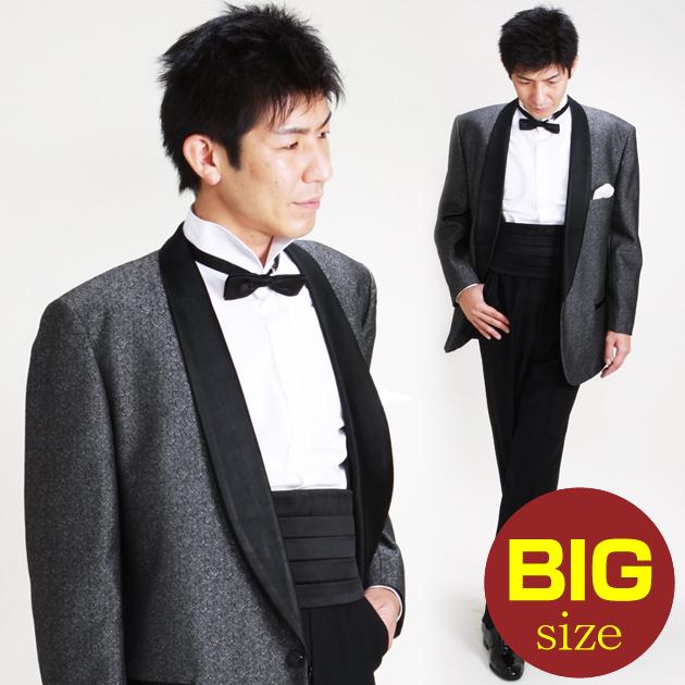 【タキシード レンタル】L・XLサイズ/175cm〜185cm/グレー パーティ 演奏会 727