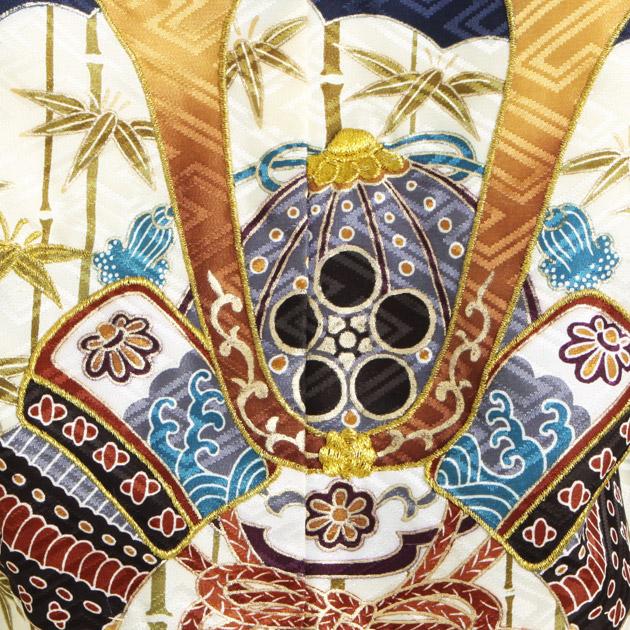 【かんたん着付】 七五三 レンタル 男の子/3歳 紺色/かぶと〔身長:88cm,90cm,92cm〕卒園式 結婚式 NT-303