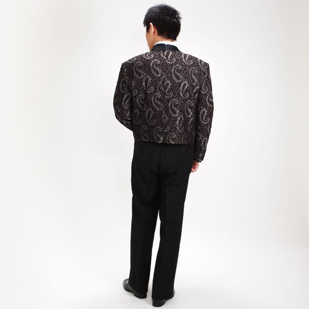【スペンサー タキシード レンタル】L・XLサイズ/170〜182cm/ブラウン パーティ 演奏会 52438a