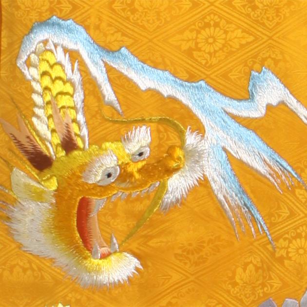 お宮参り レンタル 初着 産着 レンタル 男の子 黄/虎 【日本製高級正絹】 赤ちゃん 祝着 a-21