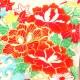 お宮参り レンタル 初着 産着 レンタル 女の子 白朱/牡丹・流水 【日本製高級正絹】 赤ちゃん 祝着 l-37