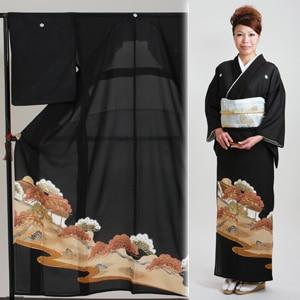 留袖 レンタル・【絽】(7月/8月向け着物)黒留袖 フルセット NT-67