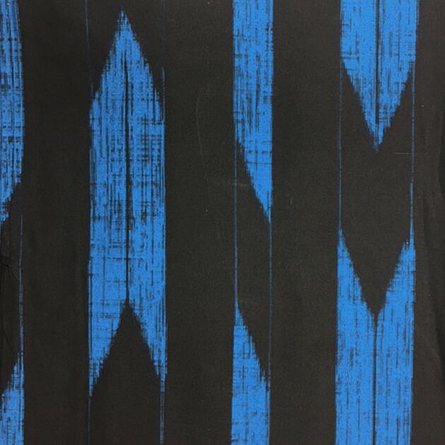 【浴衣 メンズ レンタル】ゆかたレンタル 3点セット☆浴衣・帯・下駄☆nt-my110 黒地/青矢柄