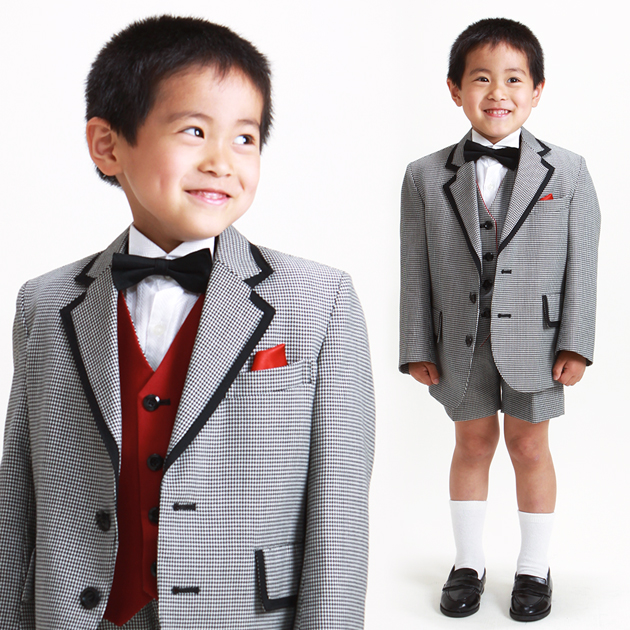 子供 タキシード レンタル 3〜7才 グレー色 318