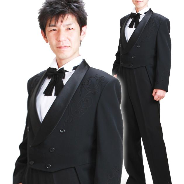 タキシード レンタル 【エンブロイダーエンビ レンタル】新郎 結婚式 nt004