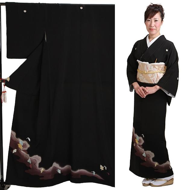 黒留袖 レンタル [広幅:9〜13号]留袖 レンタル 着物 留め袖 NT-L358