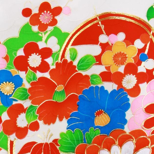 お宮参り レンタル 初着 産着 レンタル 女の子 緑/牡丹 【日本製高級正絹】 赤ちゃん 祝着 l-39
