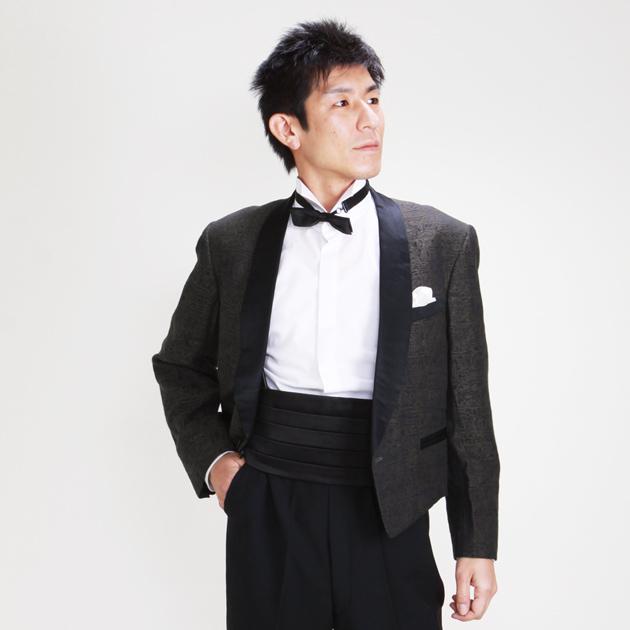 【スペンサー タキシード レンタル】L・XLサイズ/170cm〜182cm/ブラウン パーティ 演奏会 1112l
