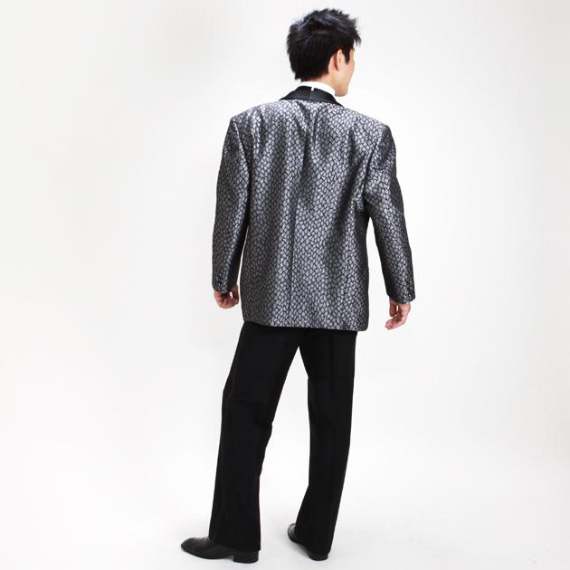 【ショールカラー タキシード レンタル】L・XLサイズ/175cm〜185cm/グレー パーティ 演奏会 752
